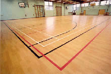 Sport Surface work by West Lancashire Flooring